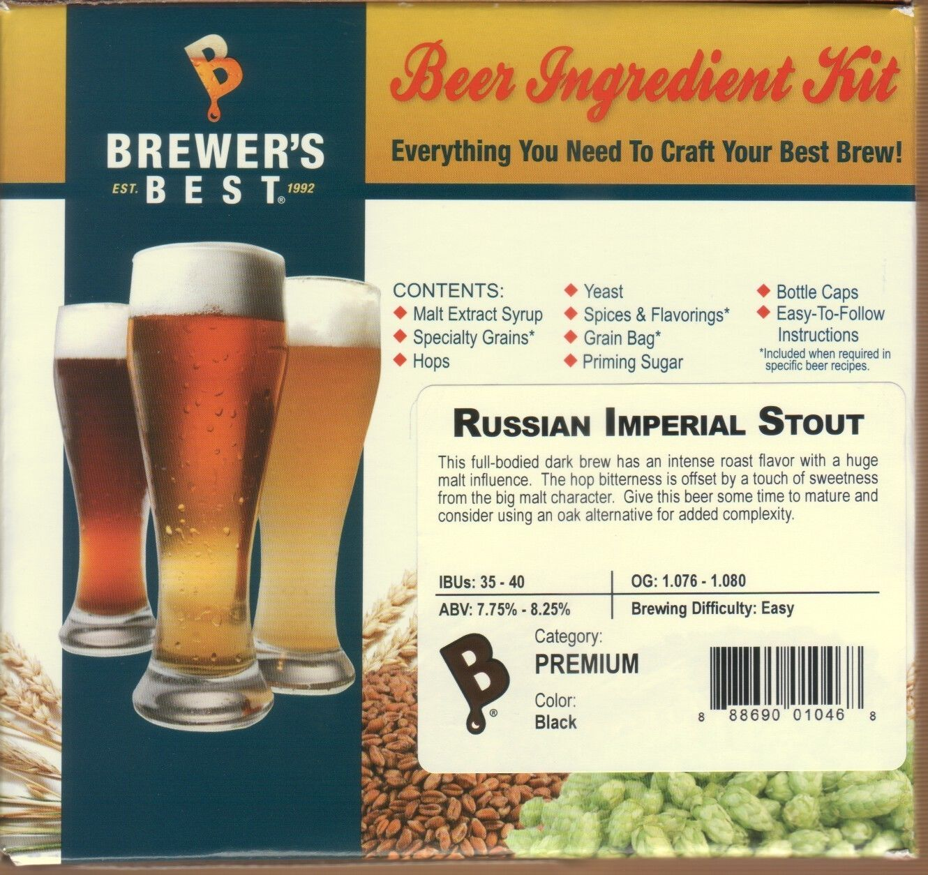 Beer Kit Russian Imperial Stout Make 5 Gallons Brewers Best