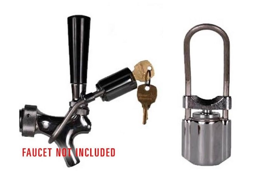 BEER TAP FAUCET LOCK FITS MOST STANDARD USA BEER TAPS AND FAUCETS ...