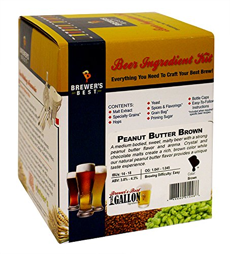 PEANUT BUTTER BROWN Brewer's Best One Gallon Home Brew Beer Ingredient Box  Kit - Hobby Homebrew