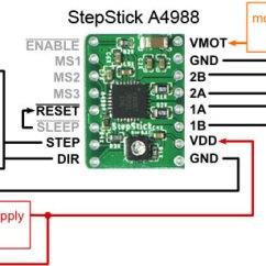 Control Wiring Diagram For Single Phase Motor 1999 Honda Passport Belt A4988 Stepper Controller | Hobbyist.co.nz