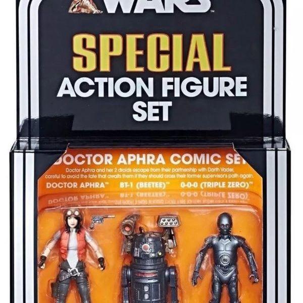 "HASBRO Star Wars The Black Series 3.75"" SDCC 2018 Dr. Aphra Comic Set (Vintage)"