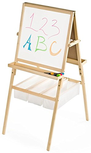 Displays2go 2Sided Childrens Easel for Floor  Hobby