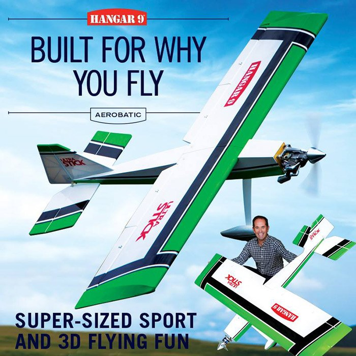 horizon hobby Hangar 9 Ultra Stick 30CC aeromodello RC