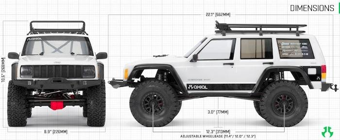 axial-scx10-2-scaler-dimensioni dettagli modello