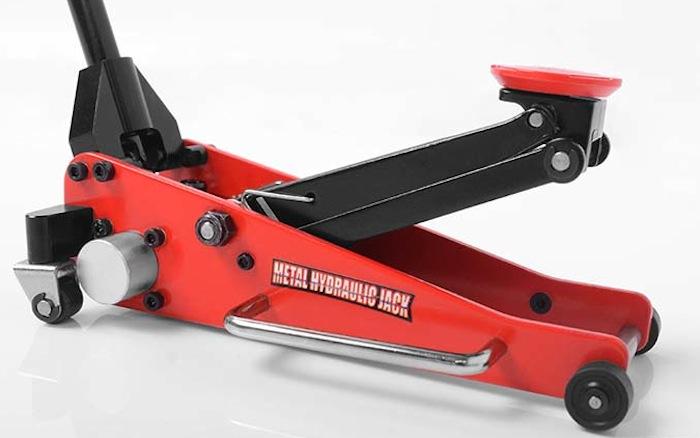 RC4WD Metal Hydraulic Jack- il cric a carrello idraulico per scaler