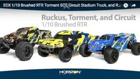 ECX Torment, Circuit Stadium e Ruckus - Horizon Hobby