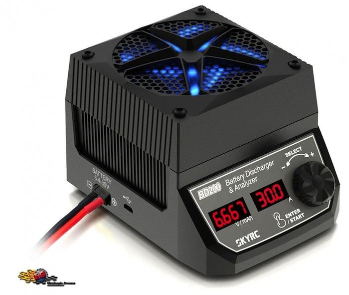 SKY RC BD200: scaricare le batterie