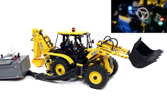 Lego Technic: RC JCB 5CX Wastemaster Backhoe Loader