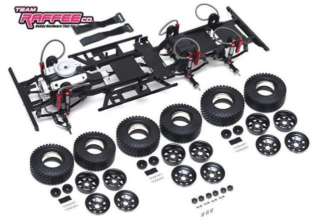 Team Raffee: Defender D130 6x6 Chassis Kit in scala 1/10