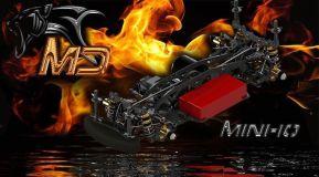 MD Racing: telaio Mini-10 M-class Touring Car kit