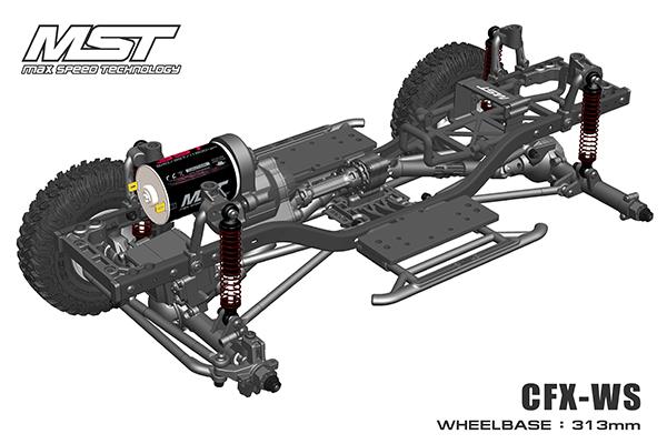 MST: CFX-WS nuovo telaio Crawler in scala 1/10