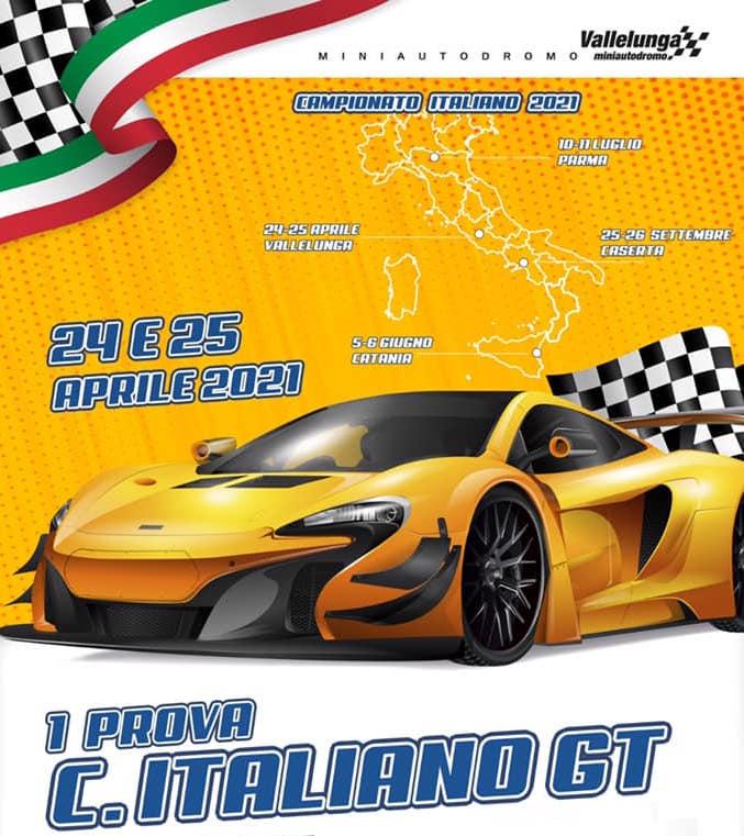 Campionato Italiano Gt e Cardano in programma sul Miniautodromo Vallelunga 2021
