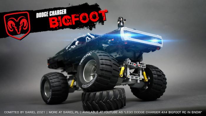 LEGO: Dodge Charger Bigfoot - Sbrick