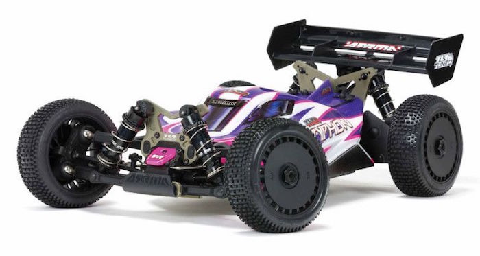 ARRMA: TLR Tuned TYPHON Race Buggy 4WD Roller in scala 1/8