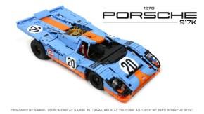 The $2500 LEGO 1970 Porsche 917K replica by Sariel