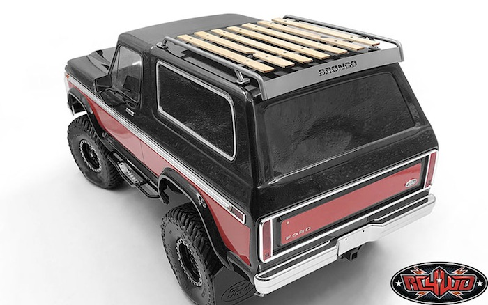 RC4WD: Wooden Roof Rack for Traxxas TRX4 Bronco
