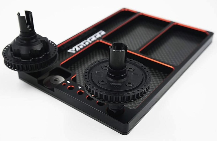 Xpress: aluminum multi-function parts tray