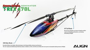 Align Trex 470L 3D Flight Helicopter Video