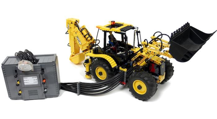 Lego Technic: RC JCB 5CX Wastemaster Backhoe Loader