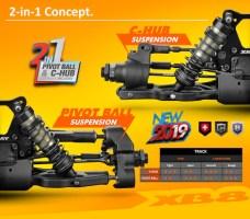 XRAY: XB8 2019 1/8 scale nitro buggy kit