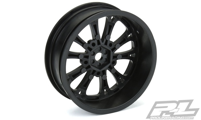 Pro-Line Pomona Drag Spec Black Front & Rear Wheels