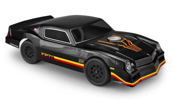 The 1978 Camaro debuted in May of 2019 at the inaugural JConcepts Spring Dirt Oval Nationals in Omaha, Nebraska to a thrilling reception. As with all JConcepts body shells, the set includes clear body, window mask, instruction sheet and decal sheet. Officially licensed to JConcepts by Chevrolet, the classic is also built, formed and designed in the U.S.A. with professional grade artisans. As always, each body set is backed with JConcepts customer support and racing heritage.