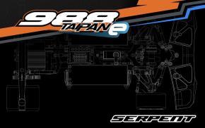 Serpent: 988e Taipan Electric 1/8 scale pan car