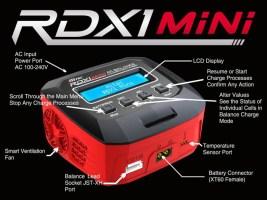 Hitec RDX1 Mini AC Balance Charger