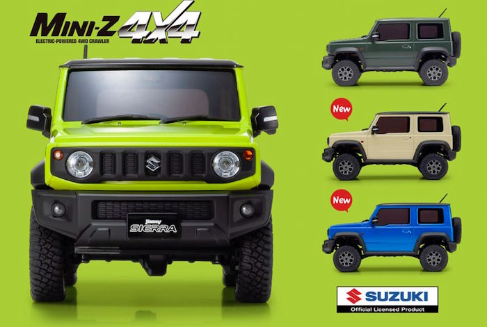 Kyoso: Mini-Z 4×4 JIMNY New Colors
