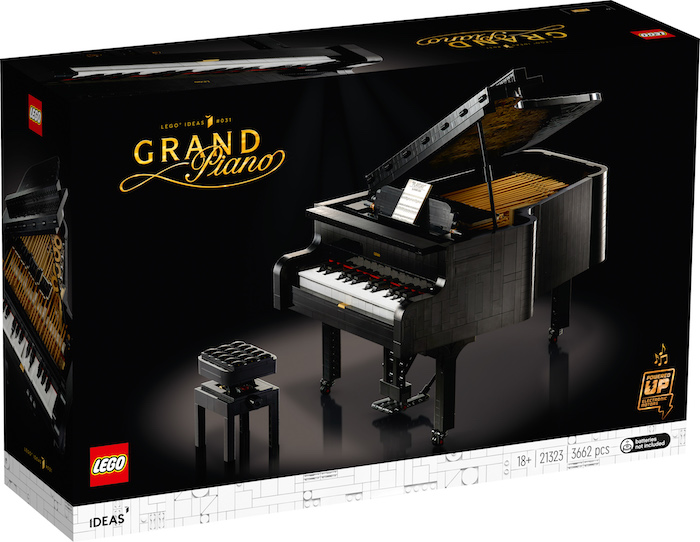 LEGO Ideas: Grand Piano makes music - set 21323