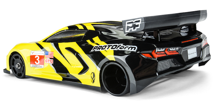 Protoform: Chevrolet Corvette C8 Clear Body for GT12