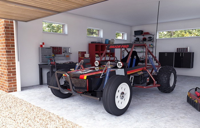"Tamiya- WILD ONE MAX - A crazy full scale ""RC"" buggy! garage"