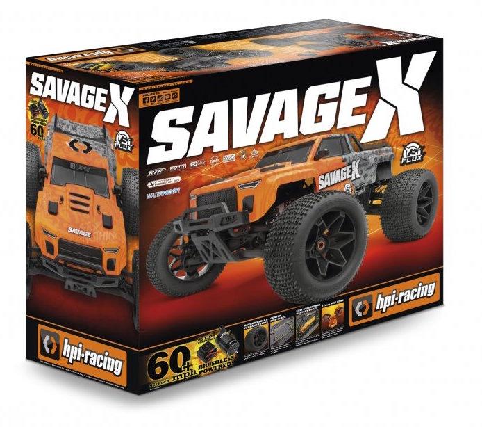 HPI- Savage X V2 GT6 Brushless and Nitro Monster Truck box
