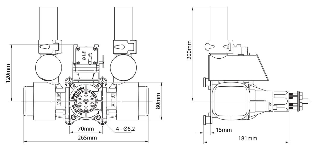 DLE-130 Two-Stroke Petrol(Gasoline) Engine