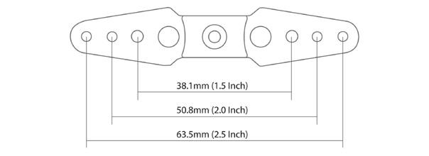 Secraft 2.5 Inch Straight Full Servo Arm