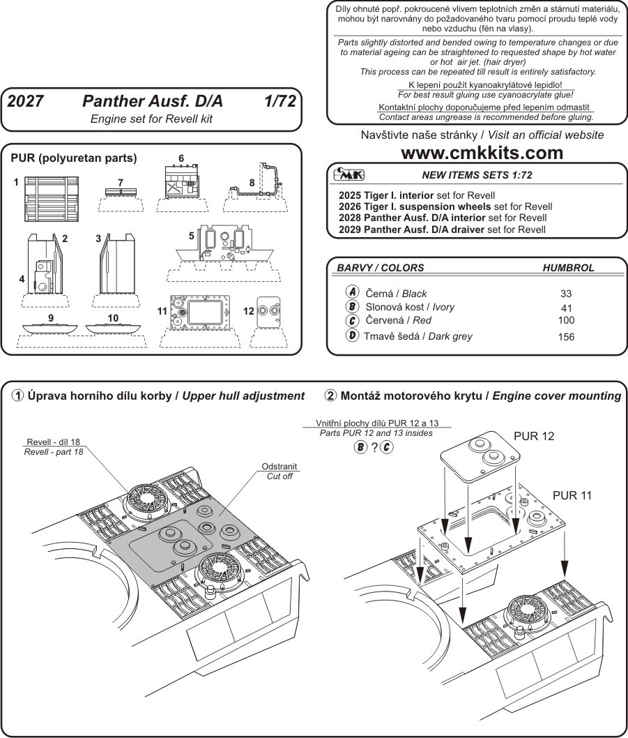medium resolution of panther engine diagram wiring library lion diagram cmk 2027 panther ausf a d engine set revell