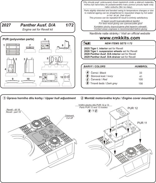 small resolution of panther engine diagram wiring library lion diagram cmk 2027 panther ausf a d engine set revell
