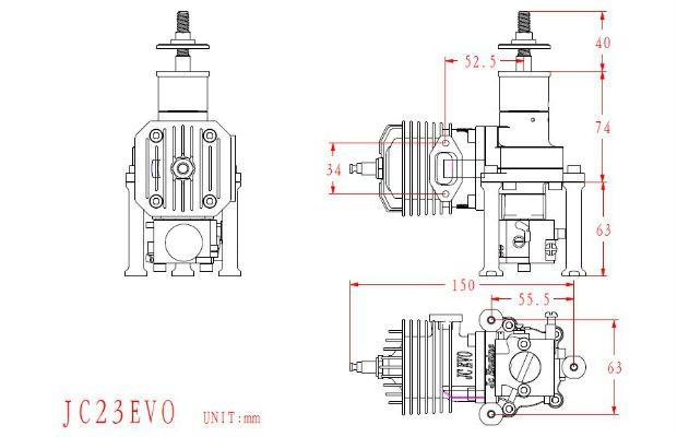 Hobby Tech :: JC23 EVO 23CC 2-Stroke Engine