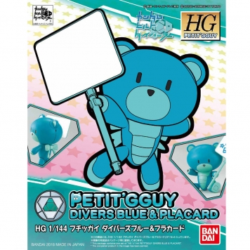 PETTI GGUY DIVERS BLUE Y PLACARD HG 1:144  – BANDAI