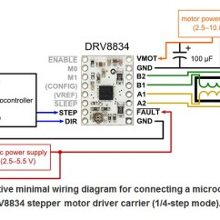 Long S Stepper Motor Wiring Diagram Alarm System Drv8834 Low Voltage Driver Carrier 2134 Pololu In Summary The Is Similar Enough To Our A4988 Carriers That Minimum Connection For A Valid Alternate Way