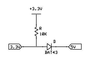 Schottky Diode Bi-Directional Logic Level Conversion