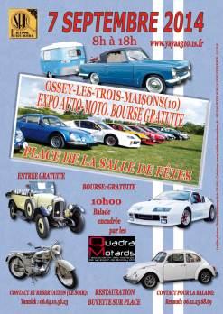 Affiche Expo Auto-Moto Ossey le 7 septembre 2014
