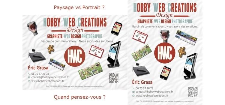 Projet de flyer pour Hobby Web Créations : Paysage Vs Portrait ?