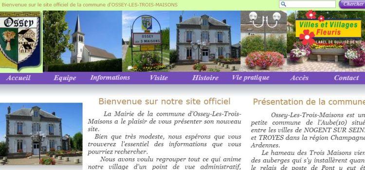 Nouvelle charte graphique pour la commune d'Ossey-Les-Trois-Maisons