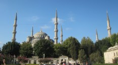 Six minarets was meant to make it more impressive than the Hagia Sophia