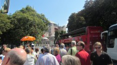 Finally on our way to the Hagia Sophia!