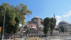 The Hagia Sophia, once a church, then a mosque, now a museum