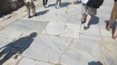 Remaining marble that made up Ephesus' streets