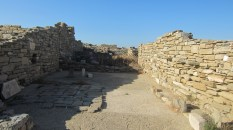 In the ancient and quite intact ruins of Delos