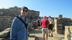 Larry in the ruins of Delos